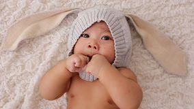 Asian baby boy stock video footage