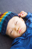 Asian baby boy take a nap Stock Image