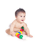 Asian baby boy with a toy Stock Image