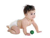 Asian baby boy with toy Royalty Free Stock Photo