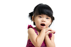 Asian baby child. Portrait of a little Asian baby child girl isolated on white background Stock Photos