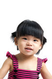 Asian baby child. Portrait of a little Asian baby child girl isolated on white background Stock Images