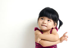 Asian baby child. Portrait of a little Asian baby child girl isolated on white background Stock Image
