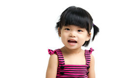 Asian baby child. Portrait of a little Asian baby child girl isolated on white background Royalty Free Stock Photo