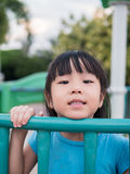 Asian baby child playing on playground Stock Photography
