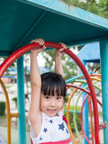 Asian baby child playing on playground Stock Photos