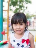 Asian baby child playing on playground Stock Photo