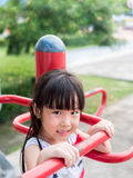 Asian baby child playing on playground Royalty Free Stock Image