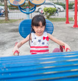 Asian baby child playing on playground Royalty Free Stock Photography