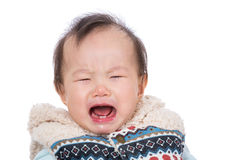 Asian baby crying Royalty Free Stock Images