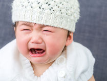Asian baby crying. Close up Stock Photography