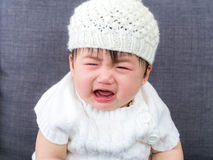 Asian baby crying stock images