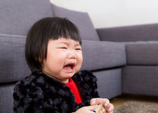 Asian baby crying Stock Photos