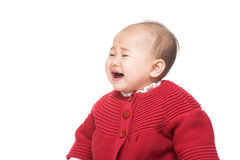 Asian baby crying Royalty Free Stock Photo