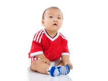 Asian baby. Cute asian boy isolated on white Stock Image