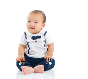 Asian baby. Cute asian boy sitting on the floor Stock Images