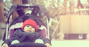 Asian Baby dressing full winter clothing Stock Photos