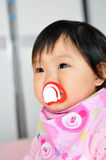A Asian baby girl Stock Photos