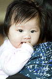 Asian baby girl stock images