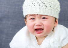Asian baby girl crying Stock Image