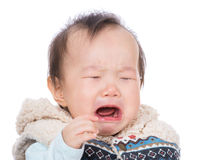 Asian baby girl crying Royalty Free Stock Photo