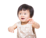Asian baby girl dance Stock Photography