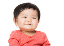 Asian baby girl excited Royalty Free Stock Images