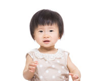 Asian baby girl excited Royalty Free Stock Photo
