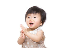 Asian baby girl feeling excited Stock Photos