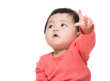Asian baby girl hand up Stock Photography