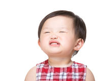 Asian baby girl making funny face Stock Photo