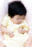 Asian baby  girl sleep Royalty Free Stock Images