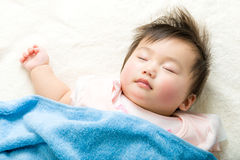 Asian baby girl sleeping Stock Images