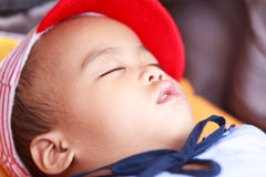 Asian baby girl sleeping Royalty Free Stock Image