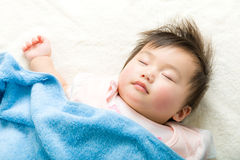 Asian baby girl sleeping Stock Photography