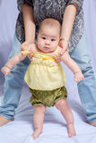 Asian baby girl in traditional thai dress royalty free stock photo