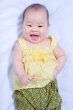 Asian baby girl in traditional thai dress Stock Image
