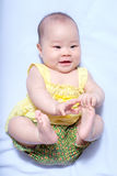 Asian baby girl in traditional thai dress Royalty Free Stock Image