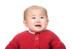 Asian baby girl upset Royalty Free Stock Image