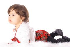 Asian baby laying down Stock Photos