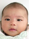 Asian baby portrait gently smiling Stock Images