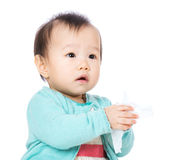 Asian baby portrait. Isolated on white Royalty Free Stock Images
