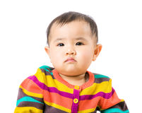 Asian baby portrait. Isolated on white Royalty Free Stock Photo