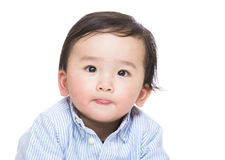 Asian baby portrait. Isolated on white Royalty Free Stock Photos