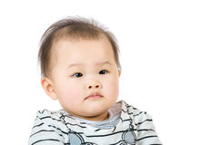 Asian baby portrait. Isolated on white Stock Photo