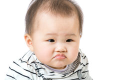 Asian baby pout lip Stock Photo