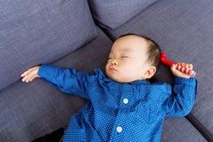 Asian baby sleeping Royalty Free Stock Image