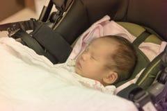 Asian baby sleeping pastel tone Royalty Free Stock Photos