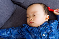 Asian baby sleeping Stock Images
