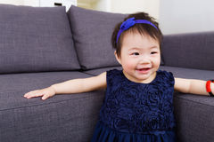 Asian baby smile Stock Photo
